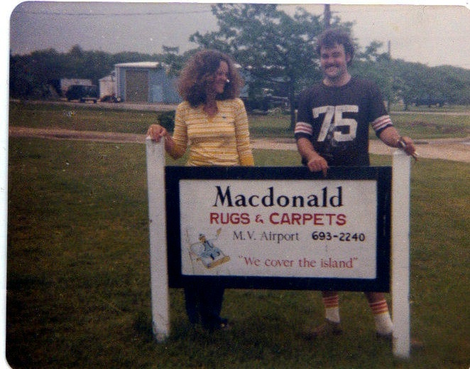 June 1981 - Laura and Brent at the old shop at the MV Airport.